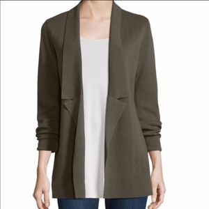 Eileen Fisher Silk & Organic Cotton Sweater Jacket